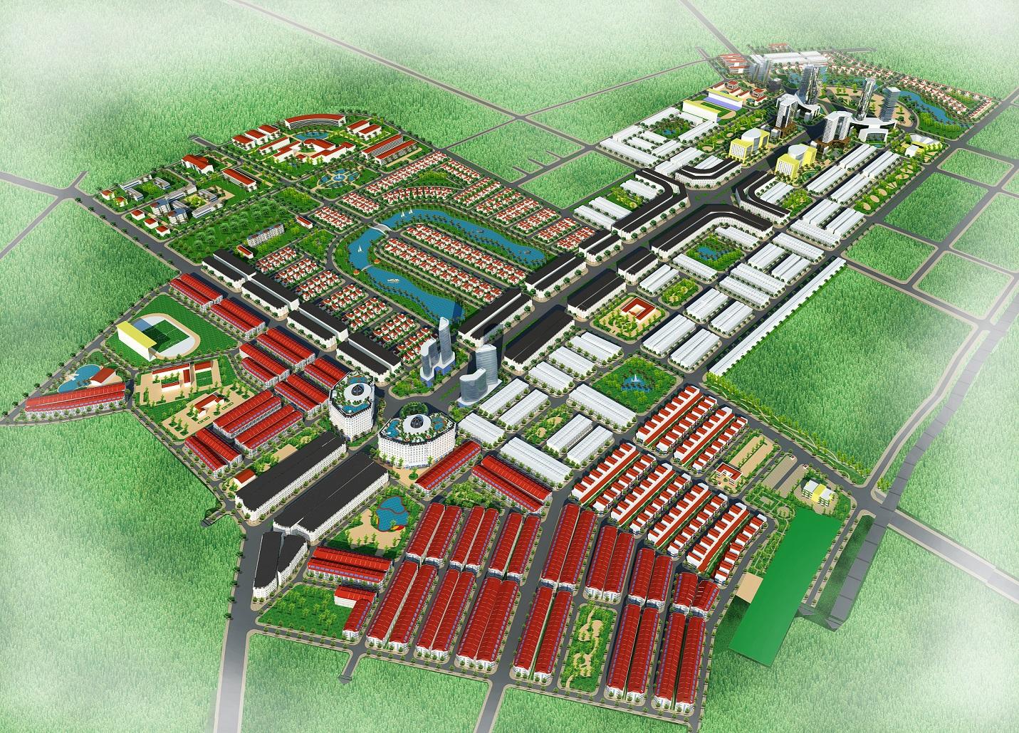 Phoi canh tong the du an Từ Sơn Garden City