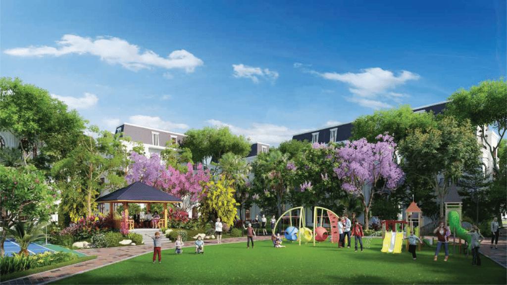 Khu vui chơi trẻ em và công viên cây xanh